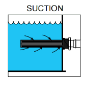 img of a tank-mounted strainer showing suction